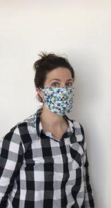 masque covid en tissu réutilisable et lavable haute température